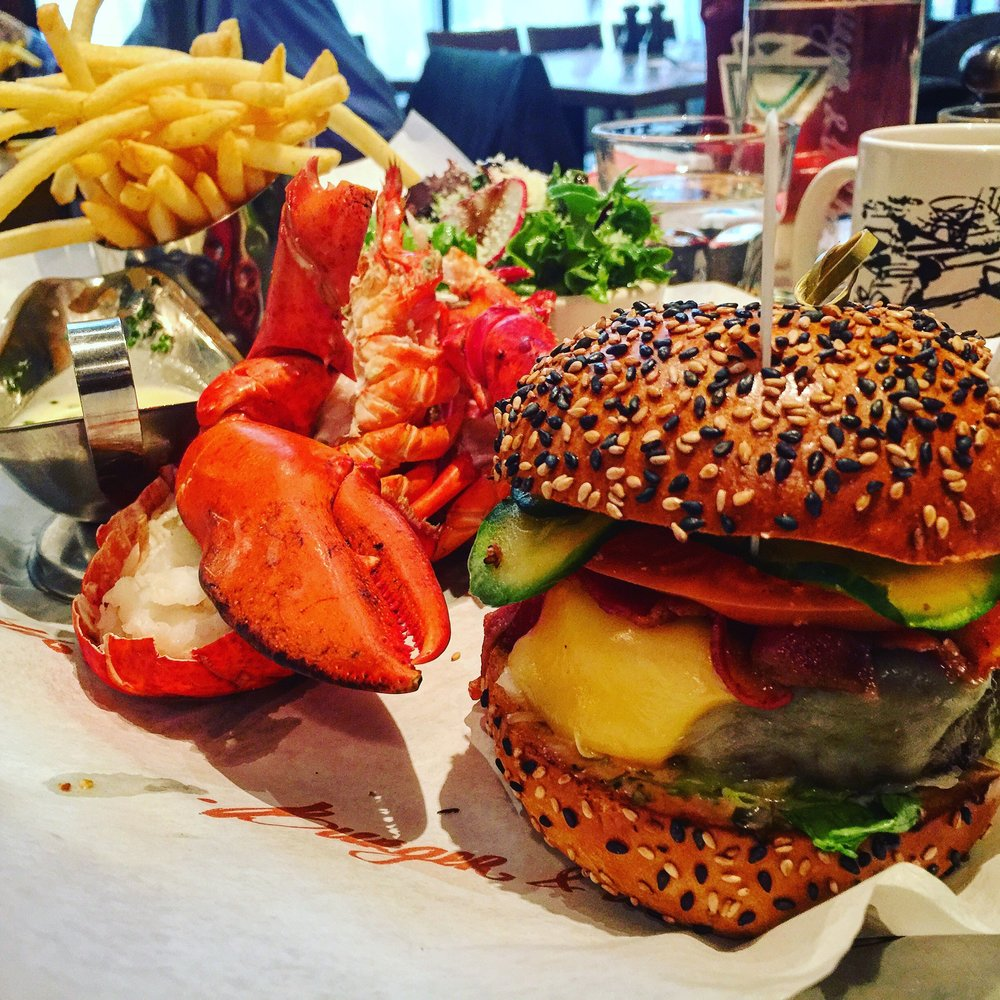 Burger and Lobster Combo