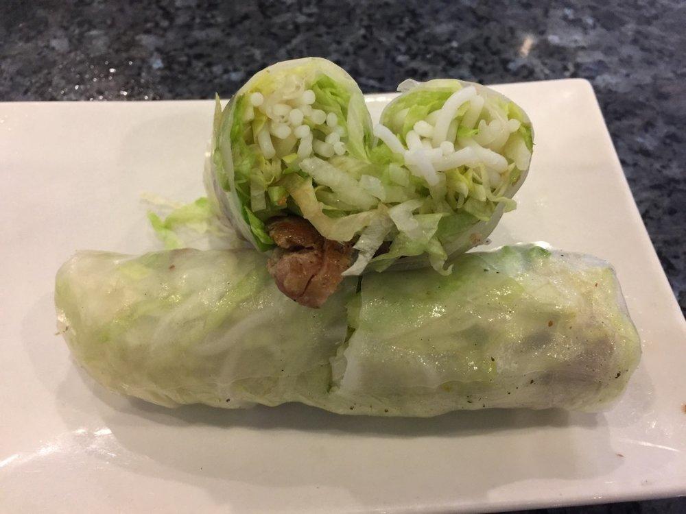 Grilled Chicken Fresh Rolls