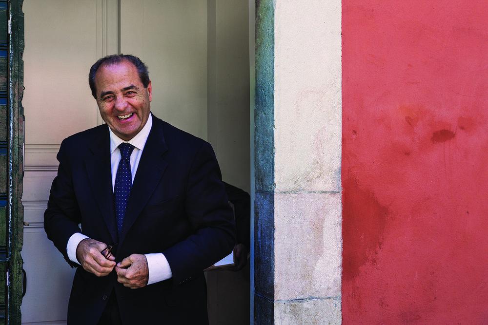 Antonio Di Pietro al  Club suisse de la presse  a Ginevra. © Alberto Campi, 9 maggio 2017
