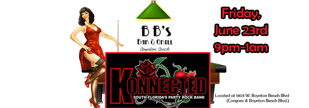 South Florida's Party Rock Band making their first-time appearance at BB's!