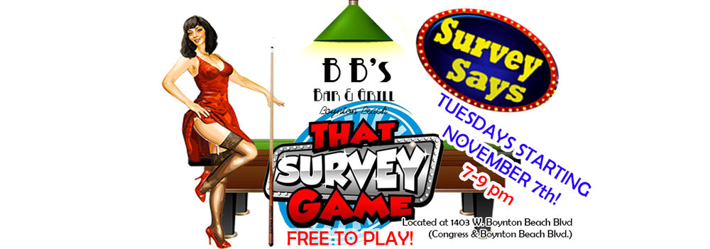 Love Family Feud? Then grab your friends and check out That Survey Game. Big prizes and lots of fun!