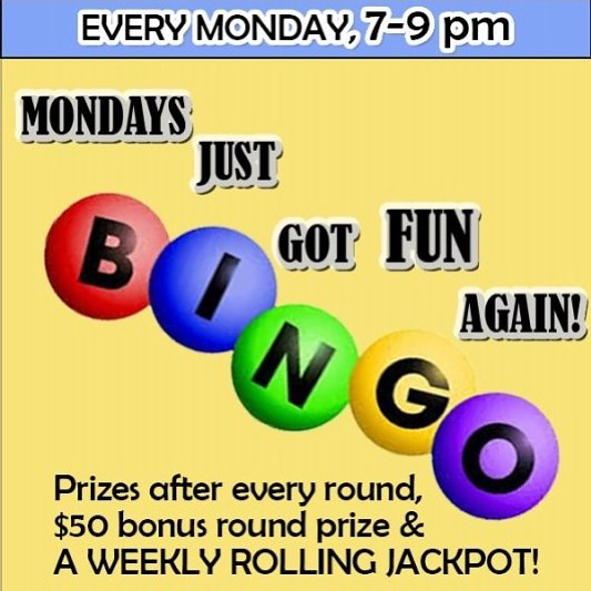 TONIGHT our rolling cash jackpot is rising again and is up to $120 if you can BINGO in 6 numbers......plus a $50 and $20 gift card and free drinks and food! $2 069 shots! Just remember you must get here by 7:15 in order to be eligible for the cash jackpot round! Free to play! Smoking permitted. #boyntonbeach #bingo #mondayfunday #rockstarrproductions #happyhour #rollingjackpot #fun #freetoplay #wings #potatoskins #bigprizes #smokingallowed #vapingallowed #pool #darts #shuffleboard #boynton #billiards #thingstodoinboyntonbeach #cashjackpot
