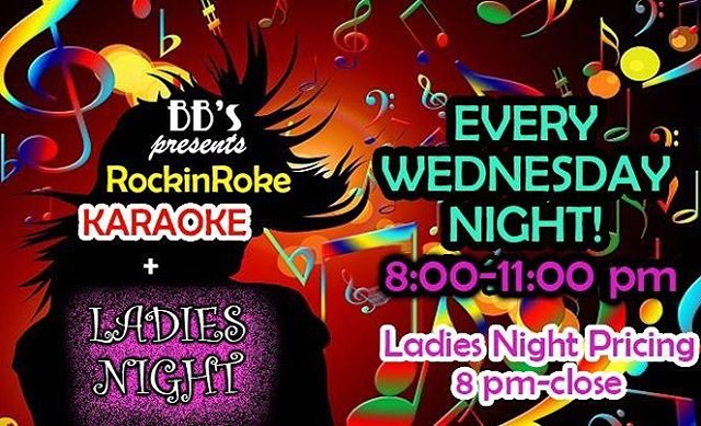 Karaoke & Ladies Night tonight! #bbsboyntonbeach #bbsofboynton #boyntonbeach #karaoke #ladiesnight #boyntonlocals #boyntonlife #thingstodoinboyntonbeach #humpday #drinkstagram