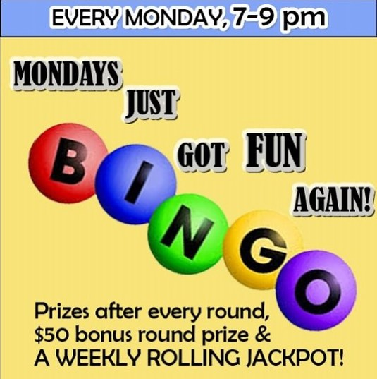 TONIGHT our rolling cash jackpot is rising again and is up to $160 if you can BINGO in 8 numbers......plus a $50 and $20 gift card and free drinks and food! $2 069 shots! Just remember you must get here by 7:15 in order to be eligible for the cash jackpot round! Free to play! Smoking permitted. #boyntonbeach #bingo #mondayfunday #rockstarrproductions #happyhour #rollingjackpot #fun #freetoplay #wings #potatoskins #bigprizes #smokingallowed #vapingallowed #pool #darts #shuffleboard #boynton #billiards #thingstodoinboyntonbeach #cashjackpot