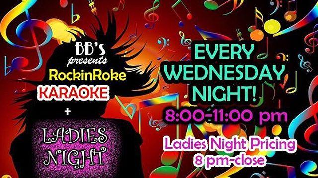 Karaoke & Ladies Night tonight! #bbsboyntonbeach #bbsofboynton #boyntonbeach #karaoke #ladiesnight #boyntonlocals #boyntonlife #thingstodoinboyntonbeach #humpday #drinkstagram