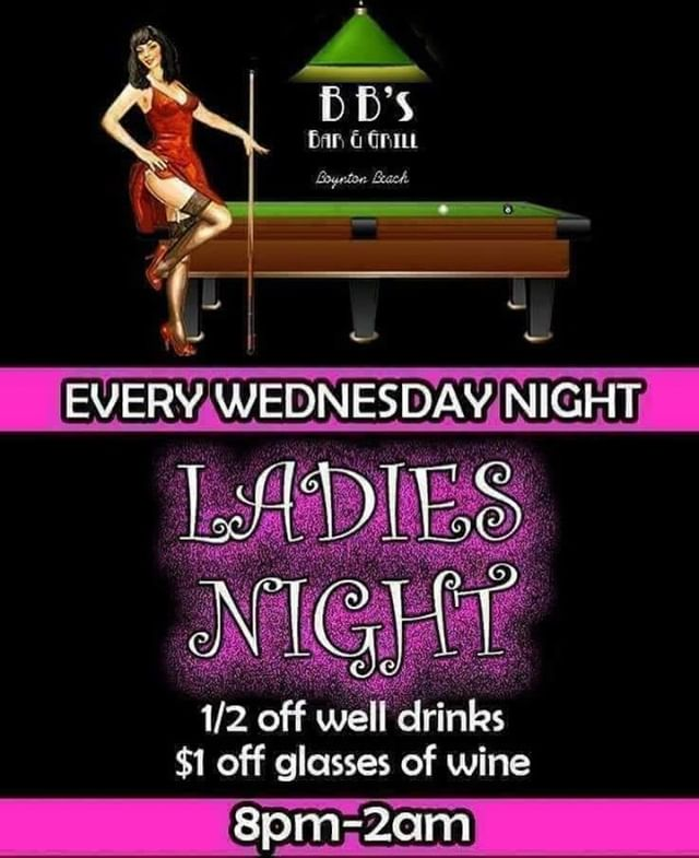 🎶Oh yes its Ladies Night🎶....... we also have Poker tonight at 7:15!! So get to BB's tonight!! Come in and get your drinks on ! 🍻🥃🍷🍸Happy hour from 4-7. Kitchen open till 11!.