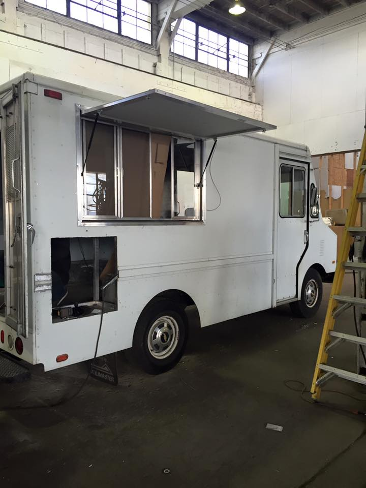 White food truck conversion