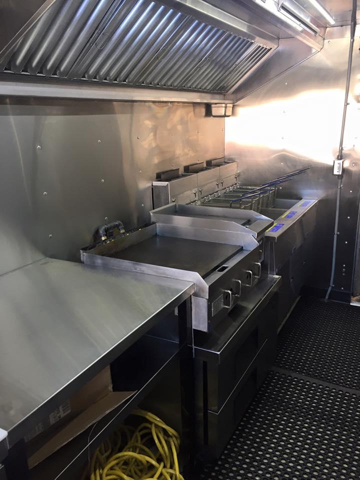 Food truck kitchen cook line