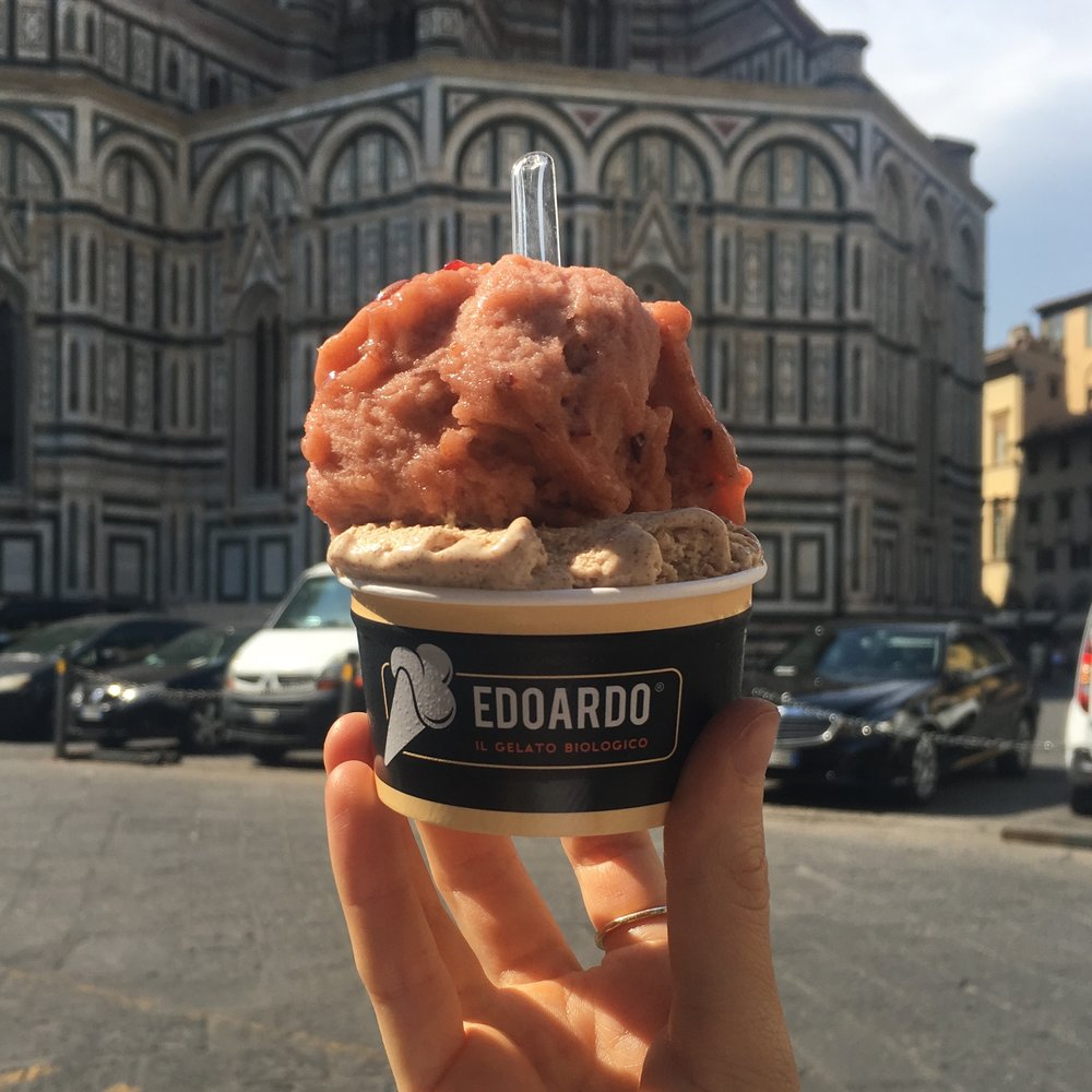My first visit:One scoop of cinnamon and one scoop of plum (vg). This tasted like I was eating a heavenly plum crumble, but ice cold.
