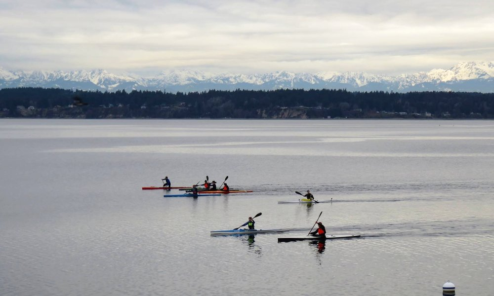 Keystone Paddlers (West Coast) training on the Puget Sound