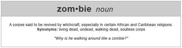 what is the definition of zombie