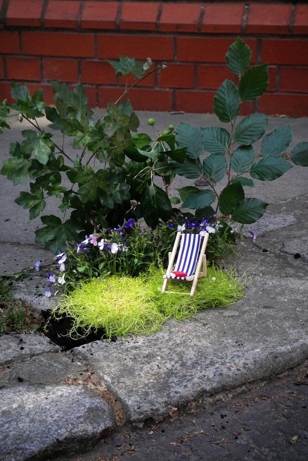 Pothole garden East London Guerilla Gardening Steve Wheen Chelsea