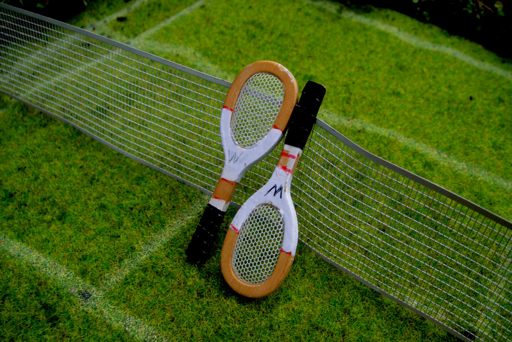 wimbledon tennis London pothole garden CU raquet