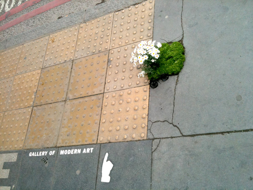 pothole garden bike south london mini garden road steve wheen people looking daisy this way for modern art