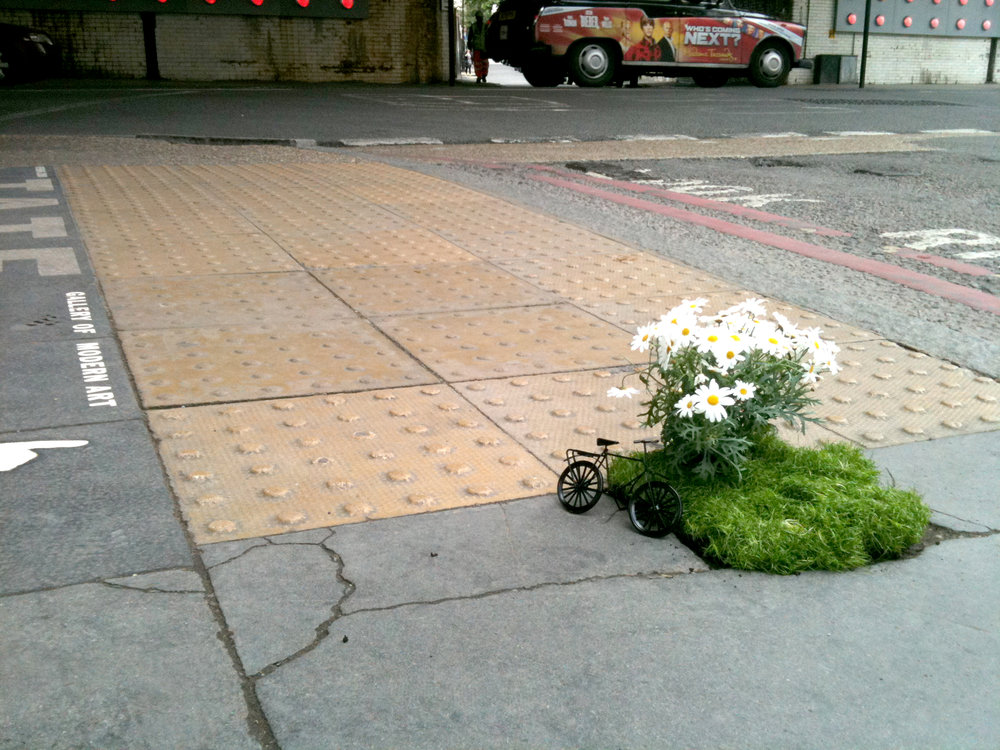 pothole garden bike south london mini garden road steve wheen