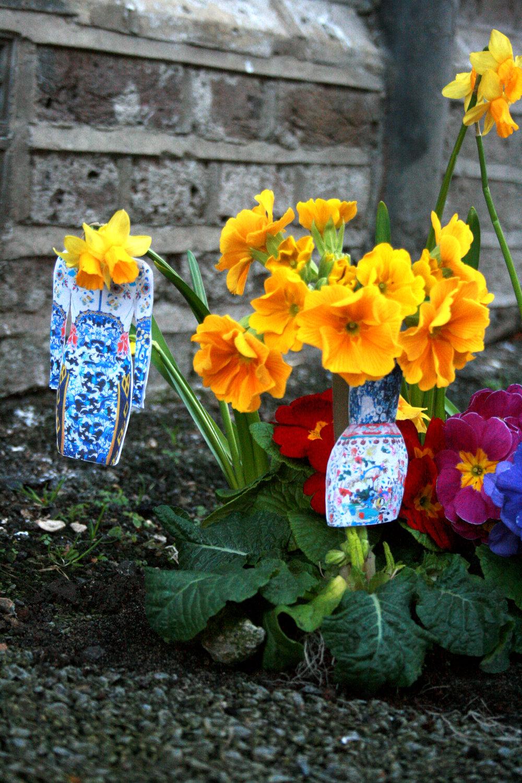 Mary Katrantzou Pothole garden london fashion week garden