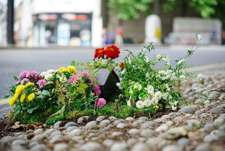 Pothole garden in Bristol street art 3