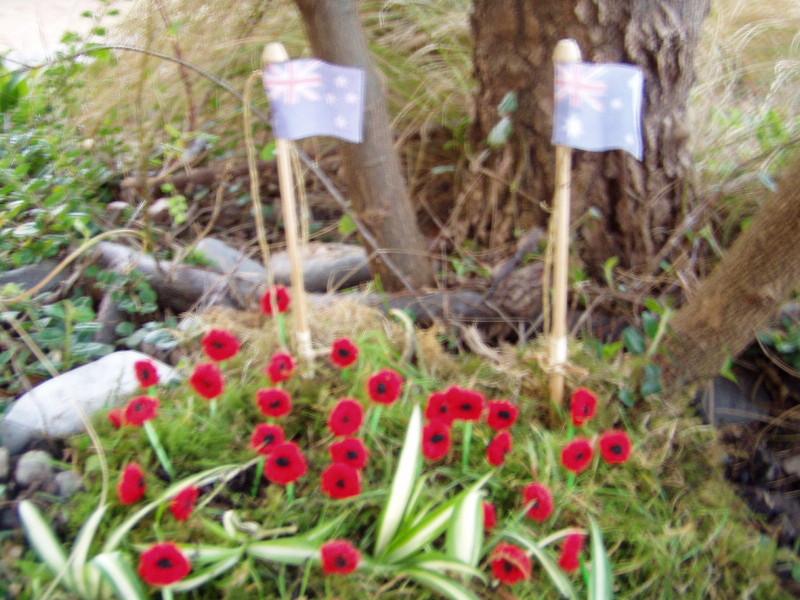 Anzac Day pothole garden