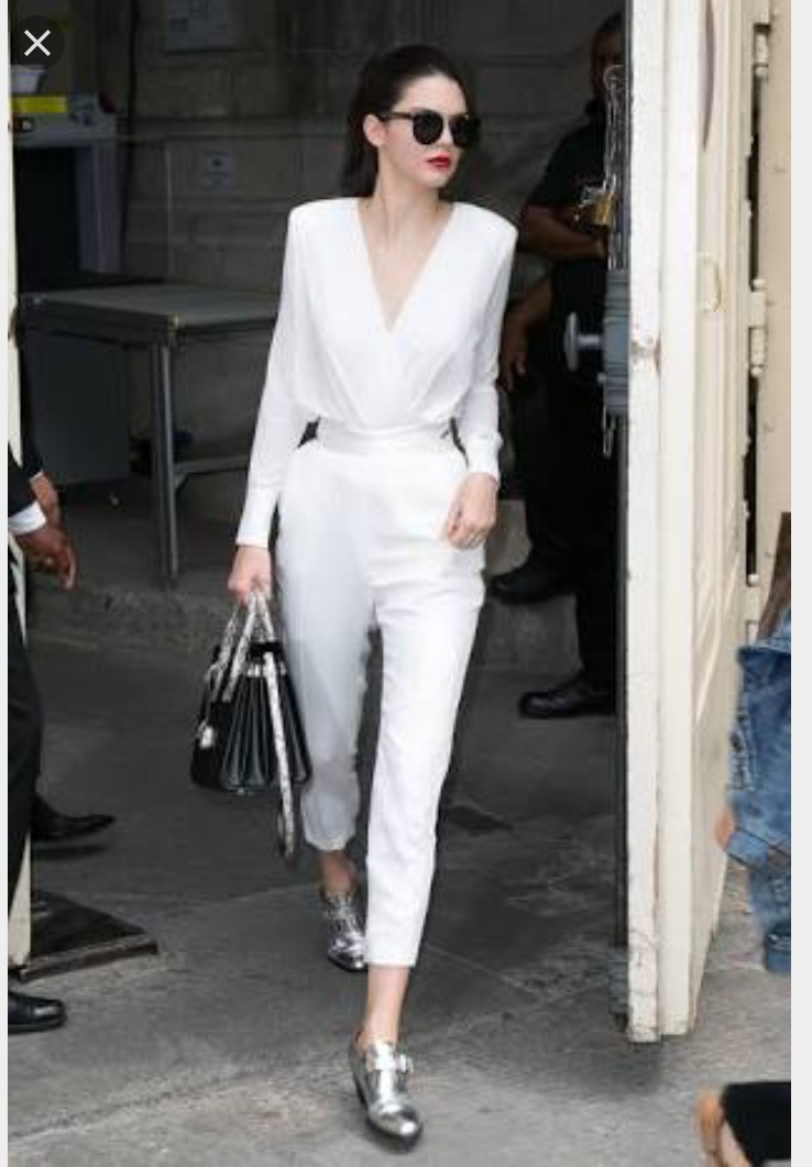Kendall Jenner rocking white on white to perfection | image source: Glam Radar