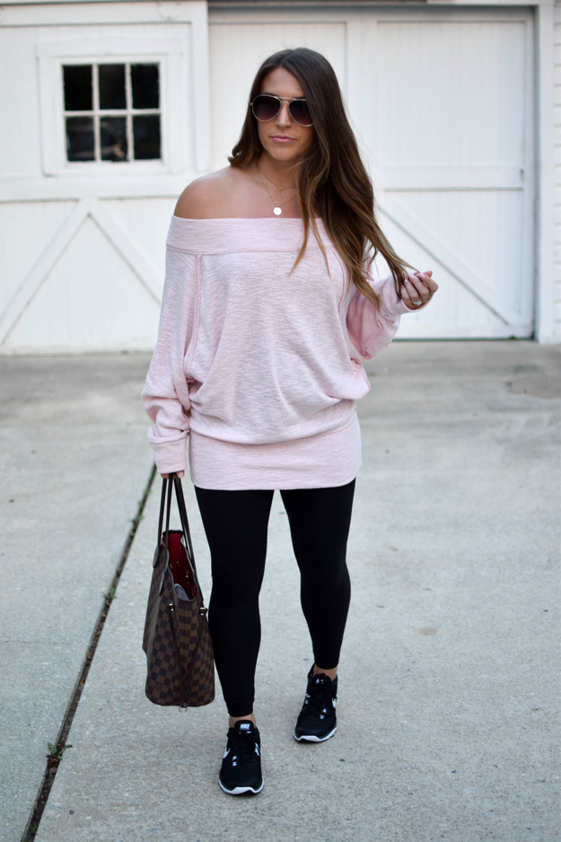 pink off shoulder dress