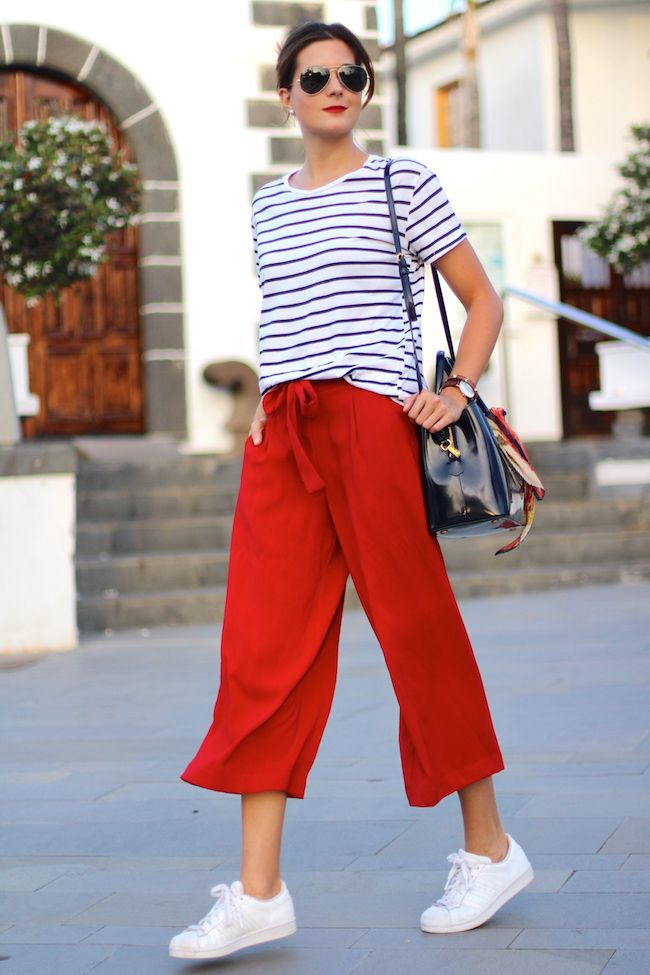 graphic t shirts and culottes