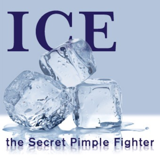 get rid of acne by using ice