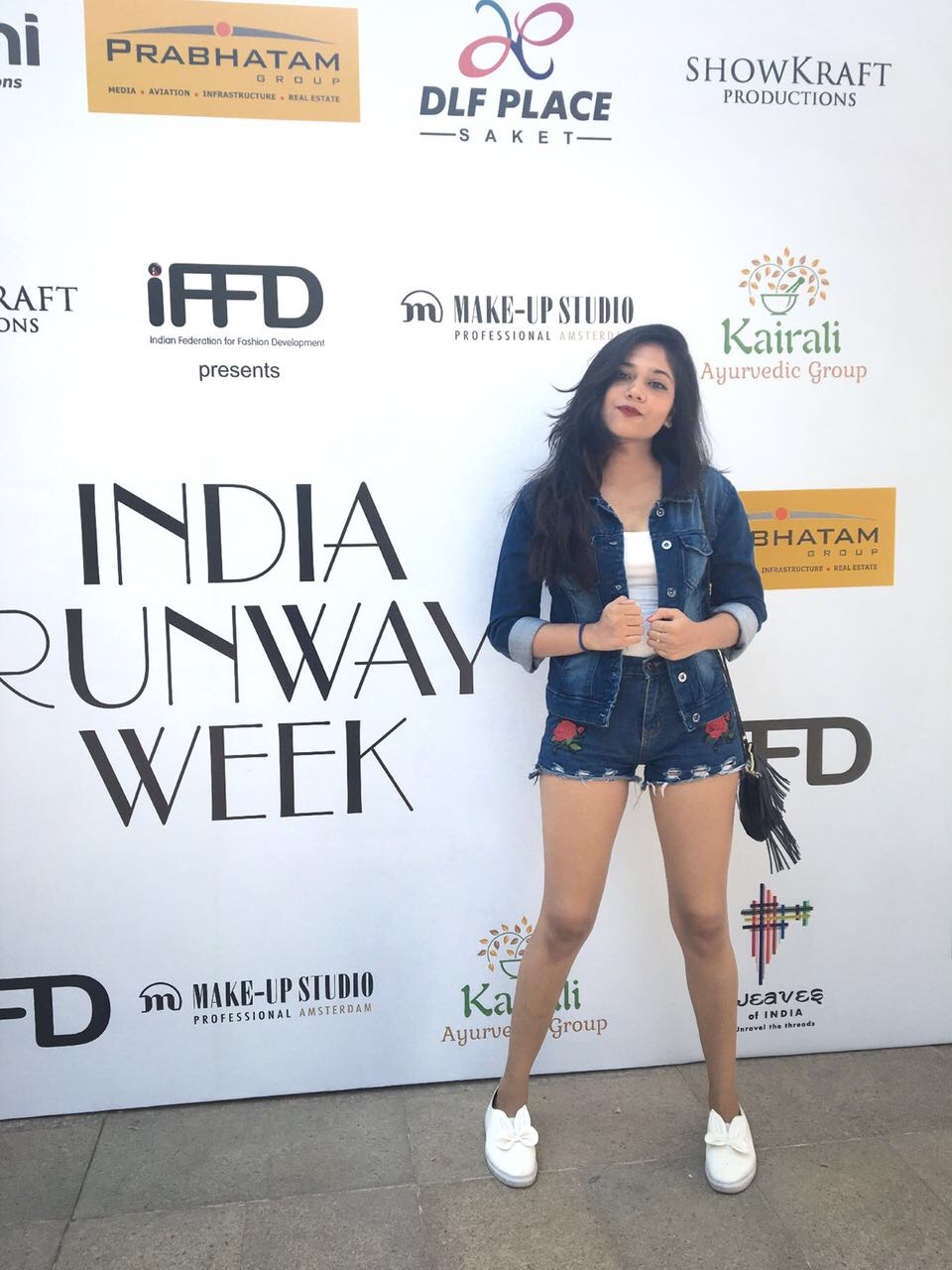 Alankrita Rana, Team NM, nailing the denim street style look right before the fashion show