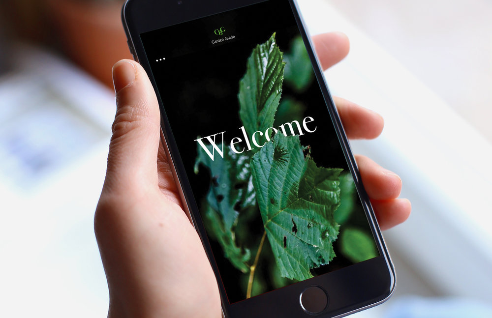 Garden Guide app welcome screen