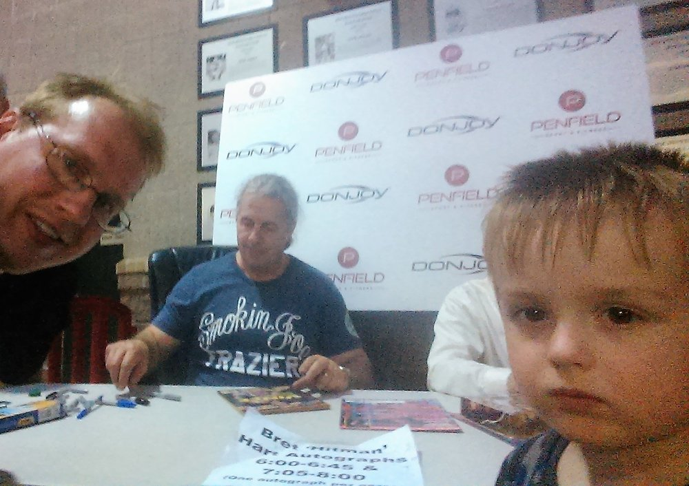 Bret Hart! best There is... Would be my #1 horse name!  Not ever  day you can meet your hero in person. June 8, 2015 @ frontier field