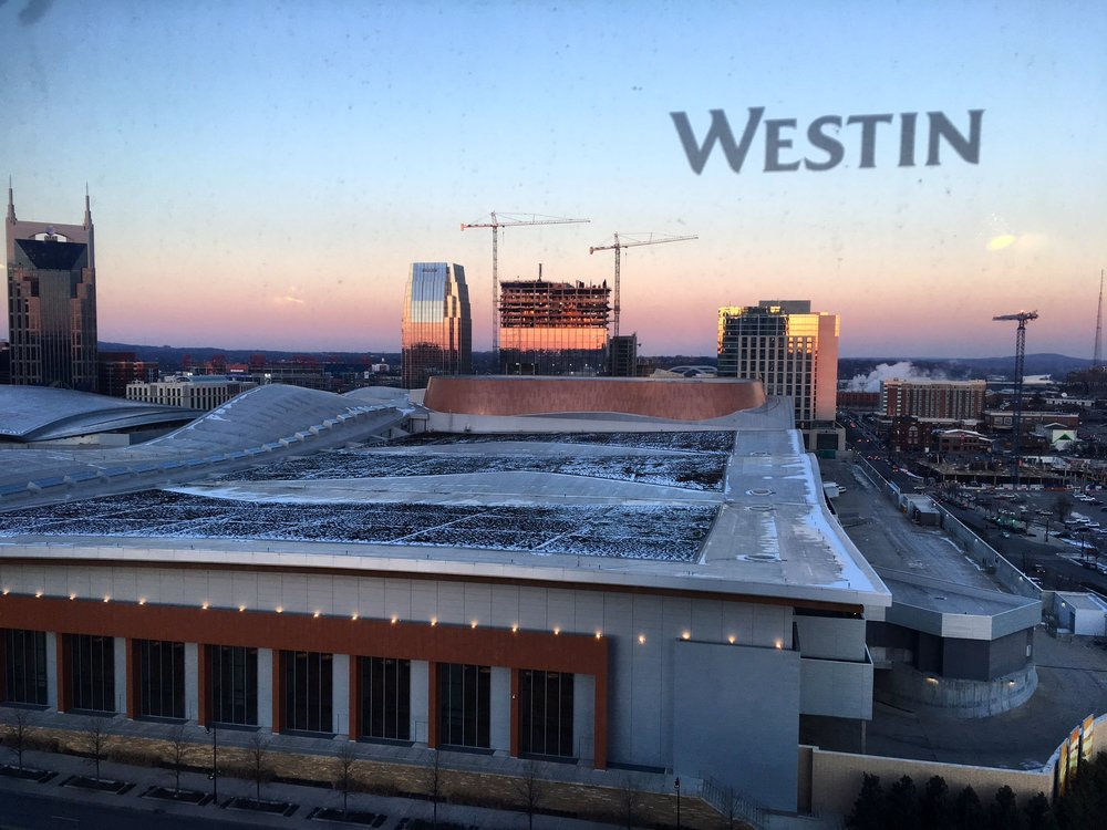 Decent Nashville sunset thanks to Westin's awesome view