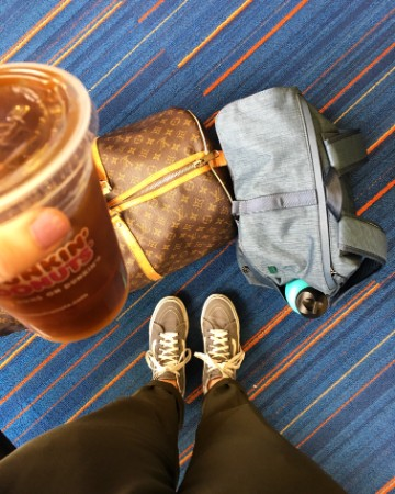Have Dunkin. Will travel.