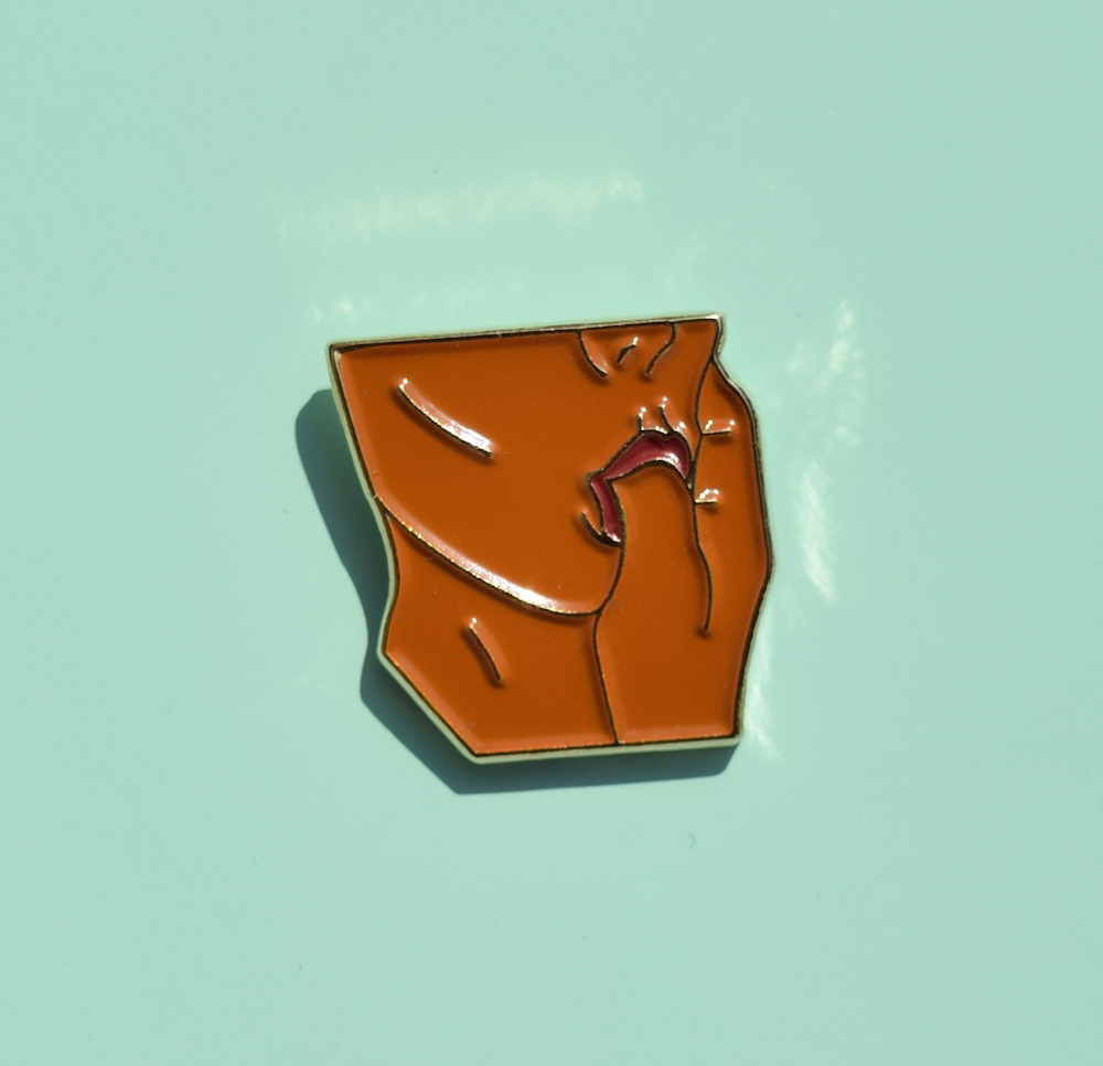 DESIGN TITLE: PONYBOY   SKU:  PONY-M  HARD ENAMEL, GOLD METAL  1.25""