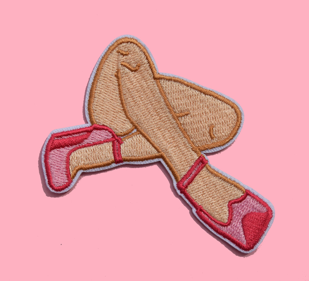 DESIGN TITLE: TROUBLE PATCH   SKU:  TROUBLE-L  EMBROIDERED PATCH  IRON-ON  3""