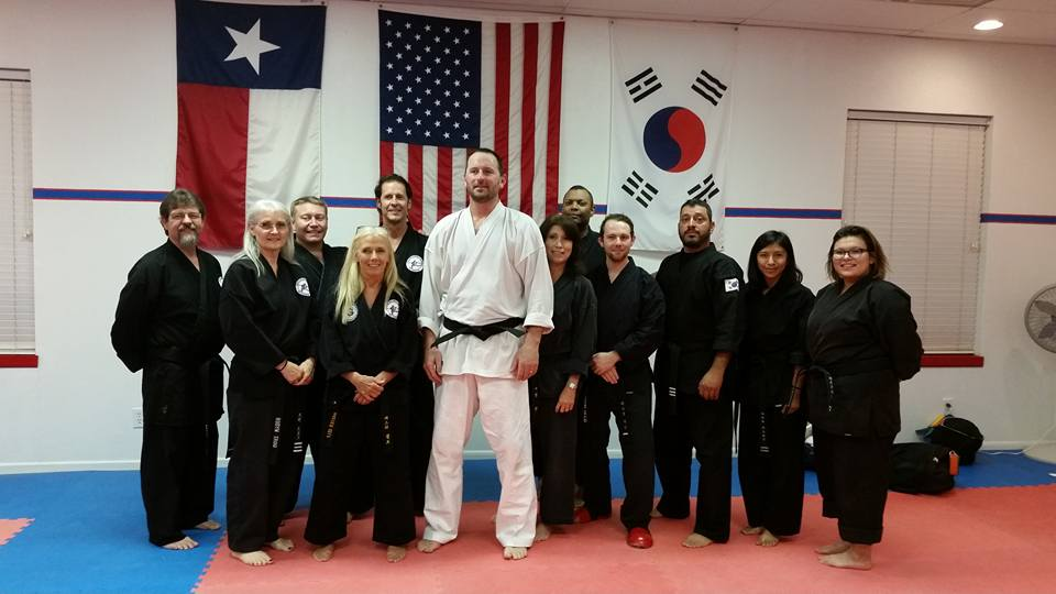 Tiger Spirit Martial Arts owner and instructor Mr.Mike Capehart is pictured in the center in white.