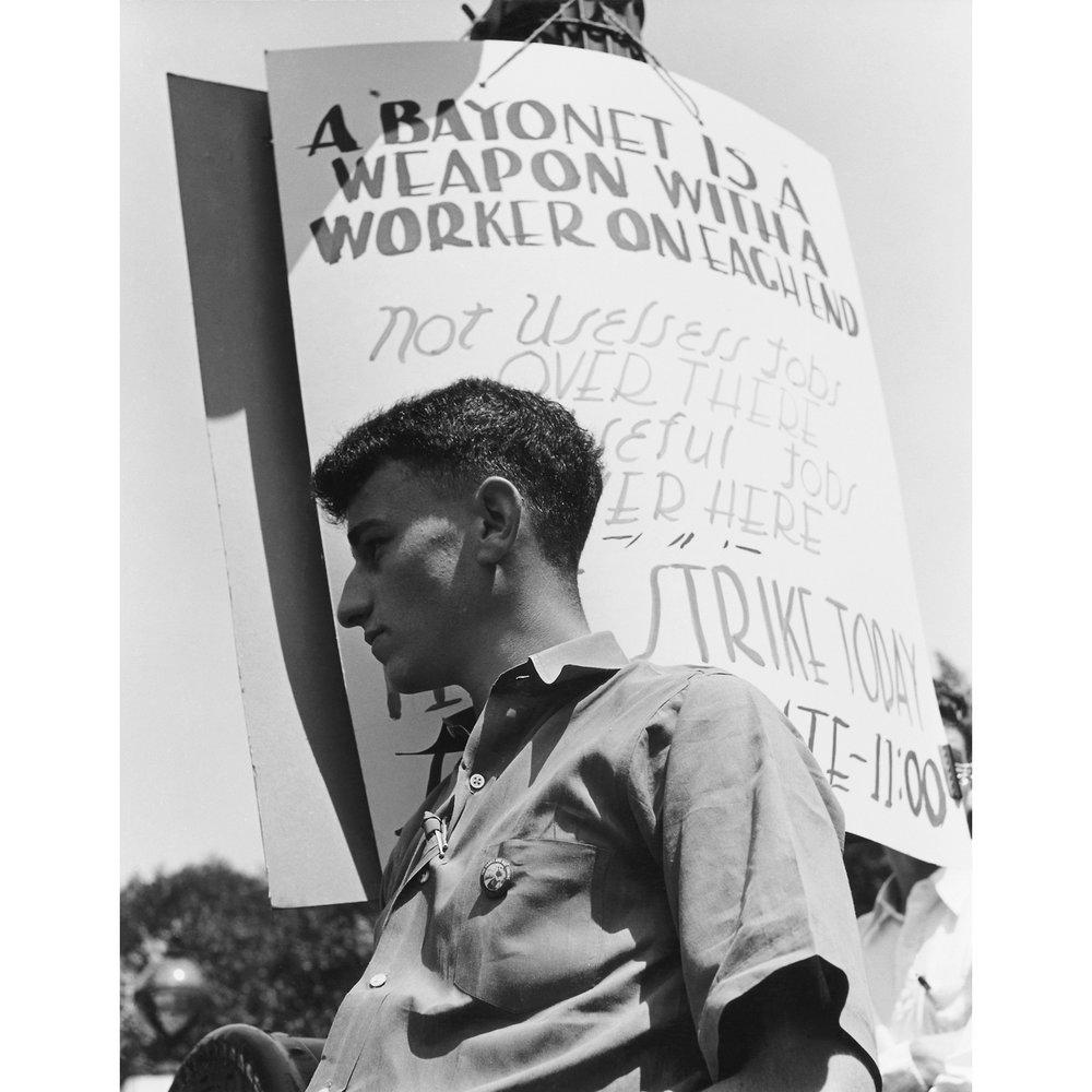 April Peace Strike, University of California, Berkeley, 1940.jpg