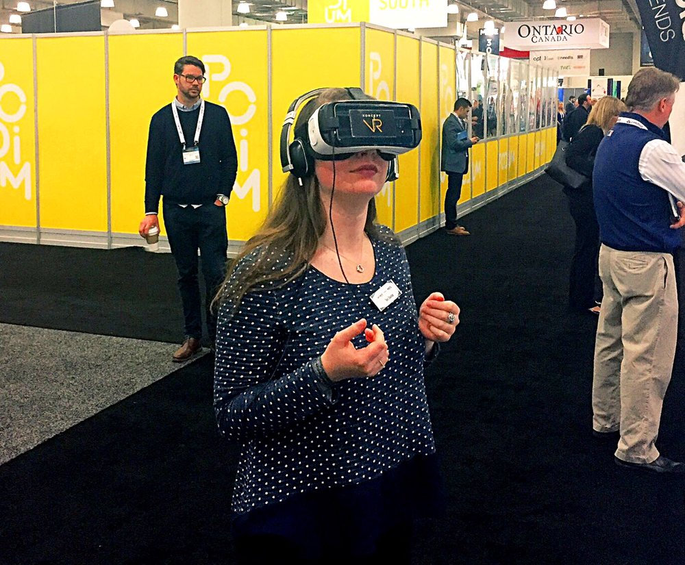At ad:tech trying VR for the first time. So flattering.