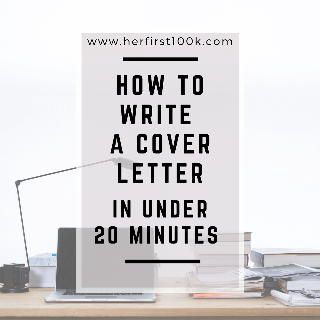 how to write a cover letter in under 20 minutes victori media