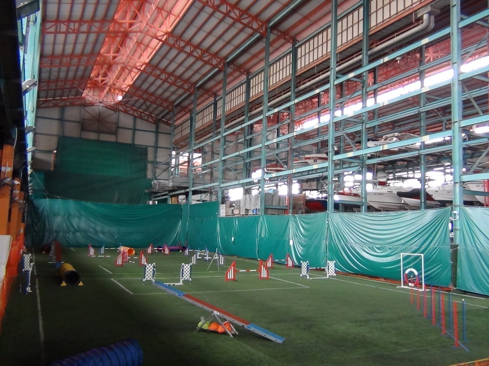 Spacious and Indoor with Equipment for Dog Sports, Agility, Training, Competition and Events