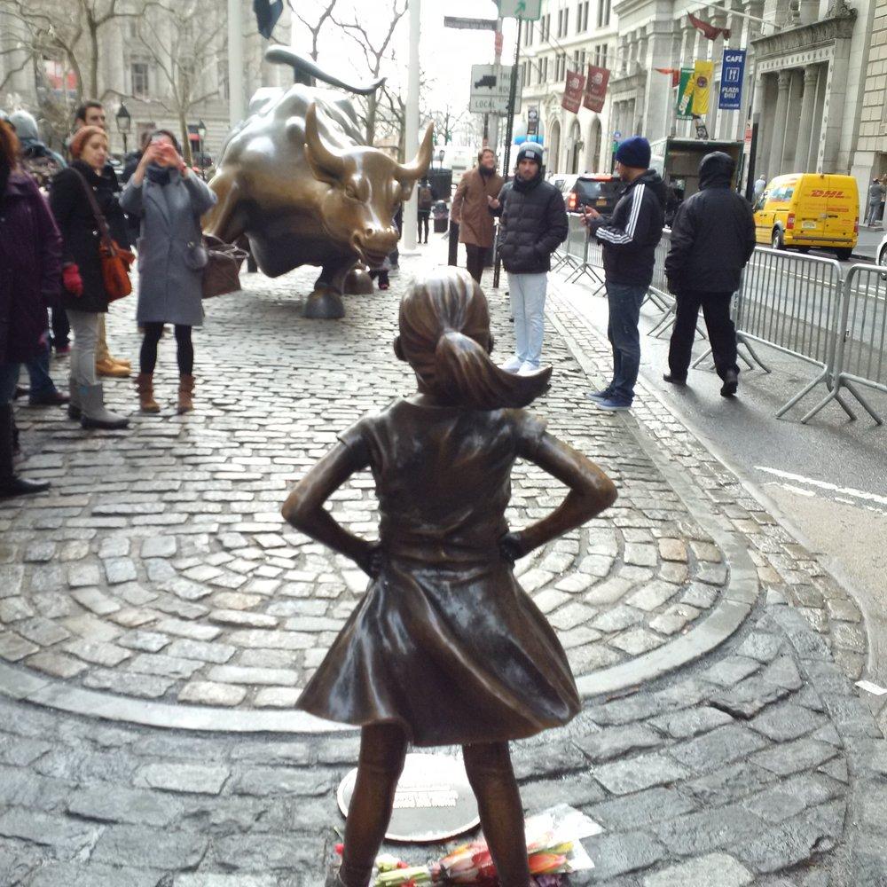 Fearless Girl Bull