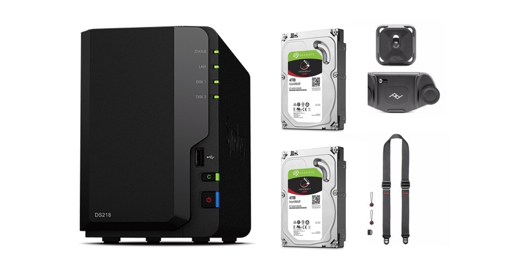 2nd prize - 2x Seagate 4TB Ironwolf hard drives (8TB)Synology 2 Bay NASSlide Lite Camera StrapCapture Camera Clip