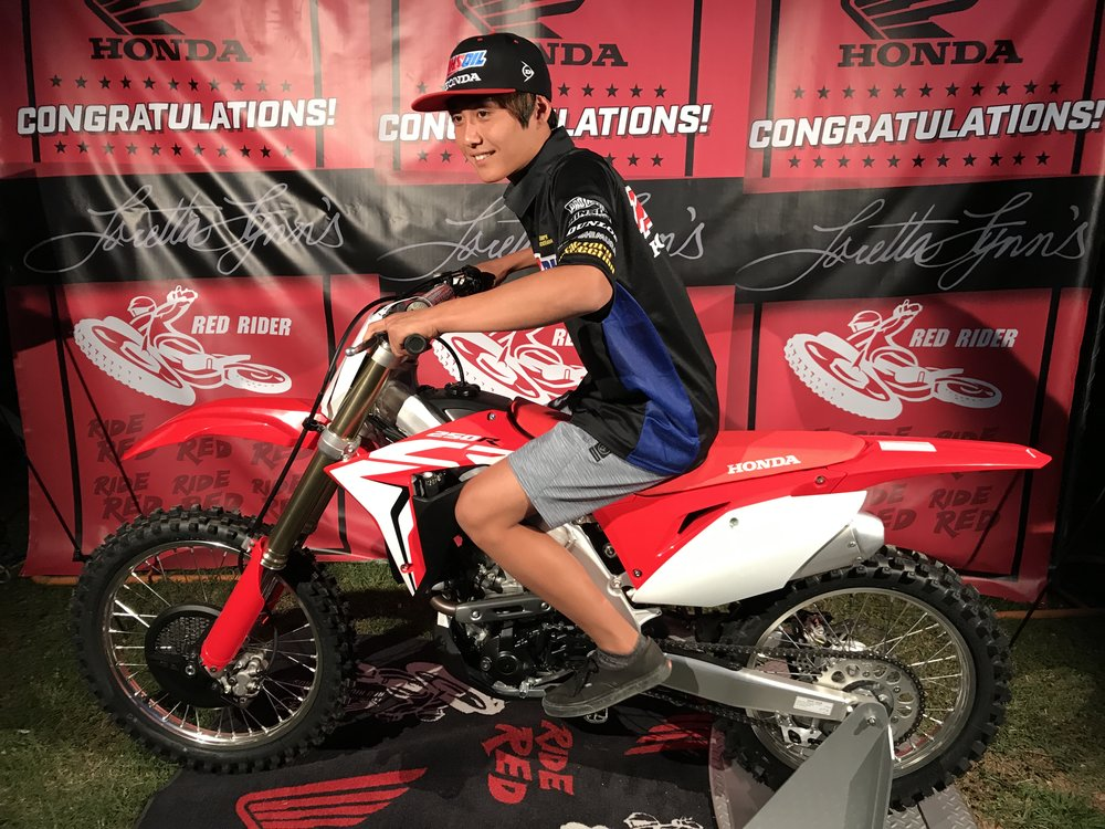 Attendees had the chance to pose on the bike for Instagram photos, using the #absoluteholeshot hashtag developed for Honda's new CRF models.
