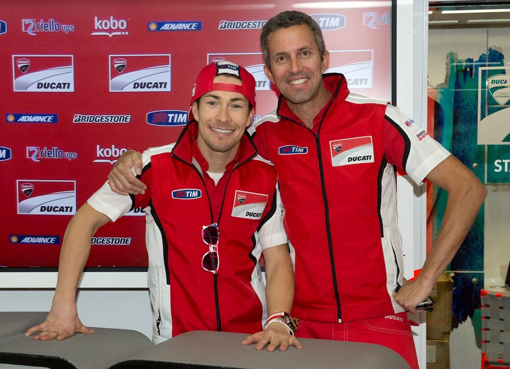Our founder served as Nicky's press officer in Ducati's factory MotoGP team from 2011-'13.