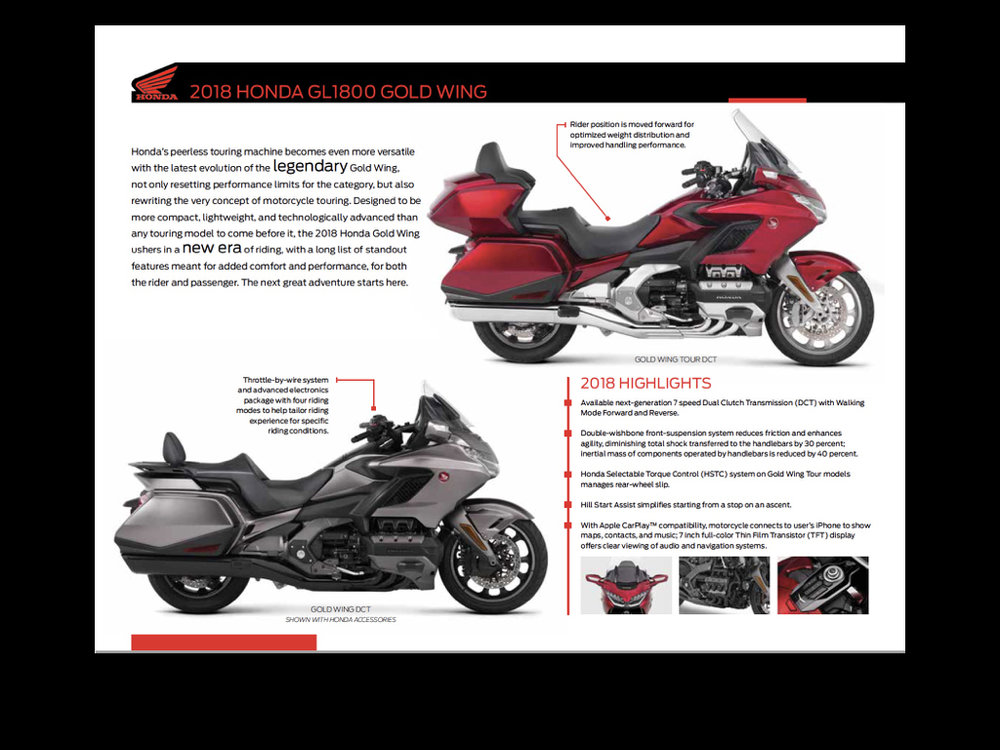 As with all important powersports models, Jonnum Media created marketing materials for use by Honda's salesforce.