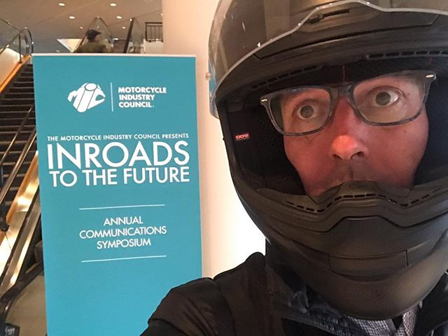 Since it's our freshman year with #motorcycleindustrycouncil, we played it safe and wore hazing-proof protection to the annual symposium.🤓Got some good info and hung out with some great people. Looking forward to Long Beach @motorcycleshows.