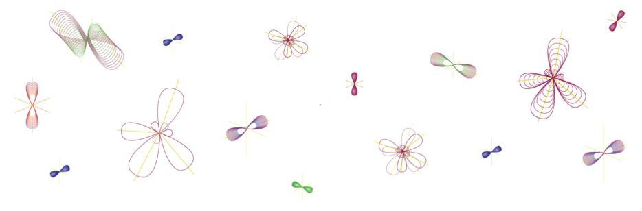 stylized illustrations of molecular hybridization