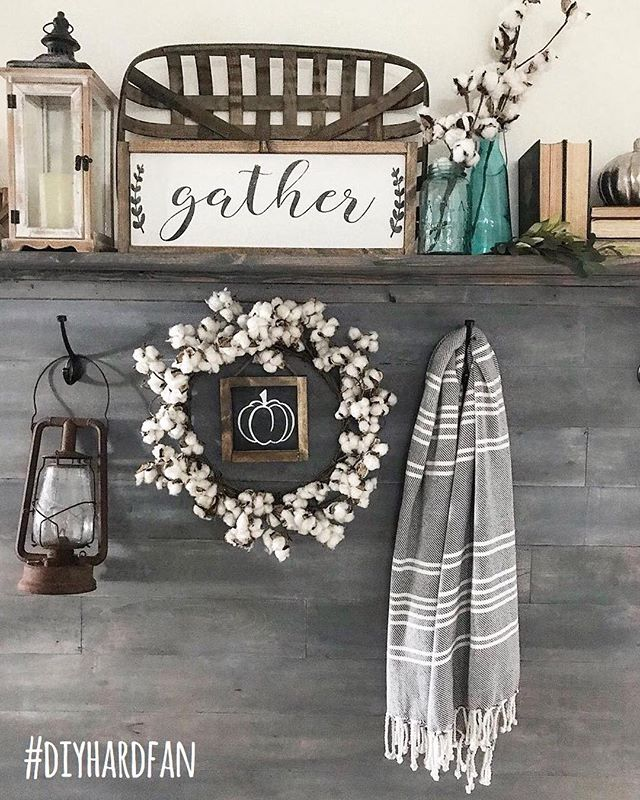 Our #diyhardfan feature this week goes to @down_mulberry_lane! We're loving the way Shandy styled this part of her home, from the rusty lantern to the grey wood! 🌸🛠 Thank you so much @chels.tre for guest hosting this week and thank you to everyone who participated! Every Wednesday, a winner is featured on all our accounts and invited to guest host with us the next round, so to play along: 1️⃣ post a photo of your DIY project between Wednesday AM and Tuesday night. Don't forget to use #diyhardfan in your posts! 2️⃣ follow ALL your hosts (we check 😜) & to make sure we see your posts, please TAG your hosts: @thecozyhearth @thedefineryco @thewindinghollow @mitchellmadefarmhouse & our featured account @down_mulberry_lane 3️⃣ tag some friends to play along! · #decorhashtagfeed