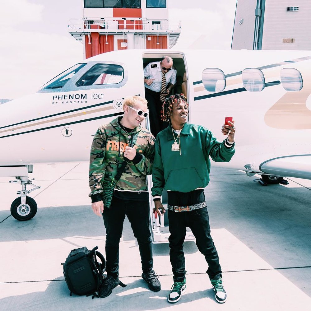 LOUIEKNOWS & Rich The Kid in Los Angeles, 2017.