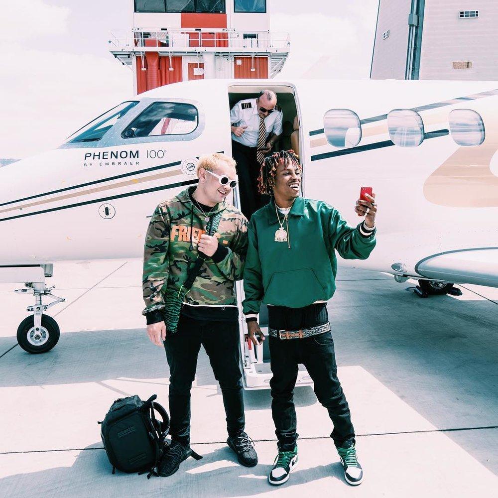 LOUIEKNOWS & Rich The Kid in Los Angeles, 2017.