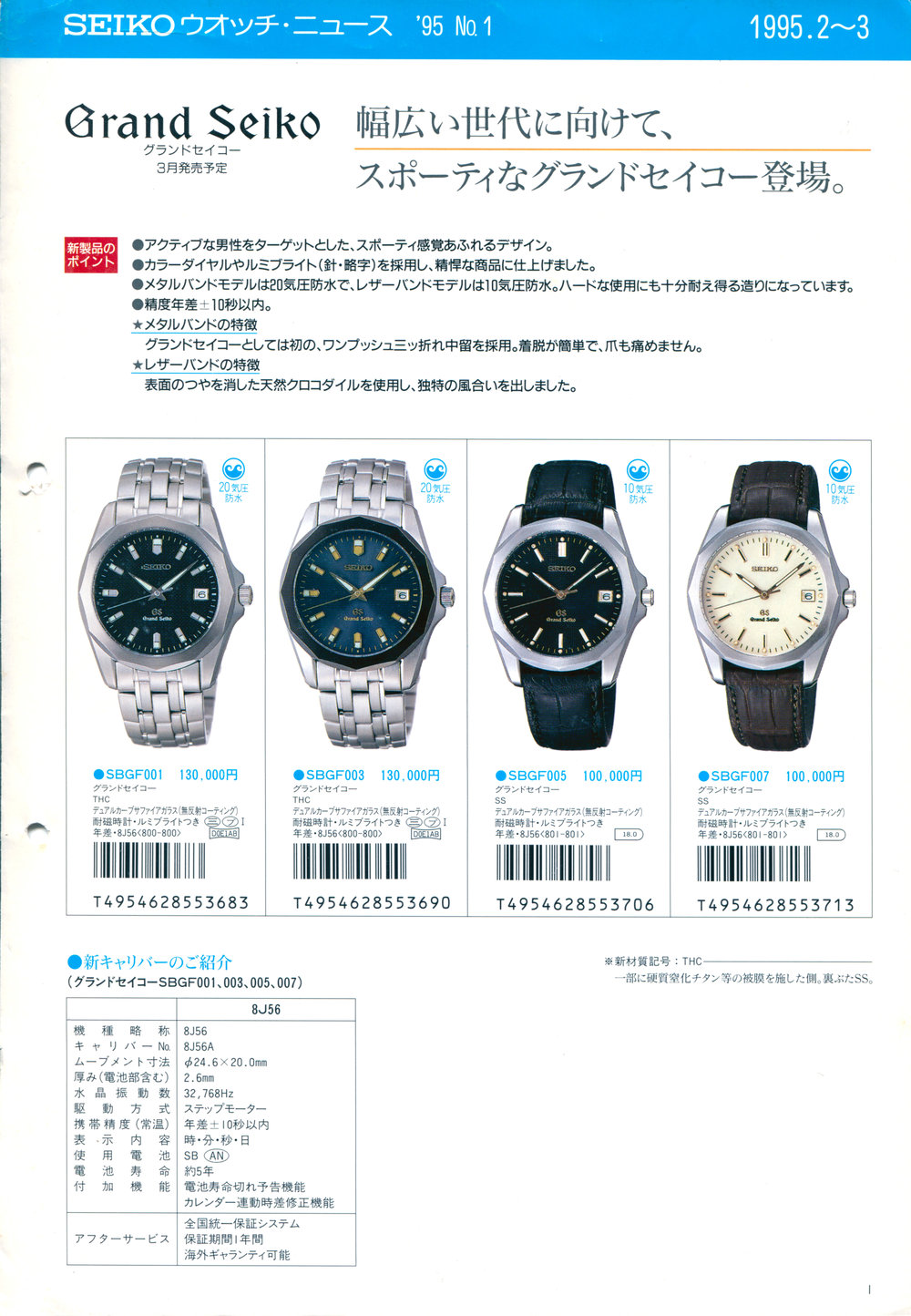 Seiko News 1995-2 Vol. 1