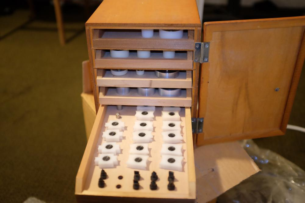 Cabinet with Dies and Jigs